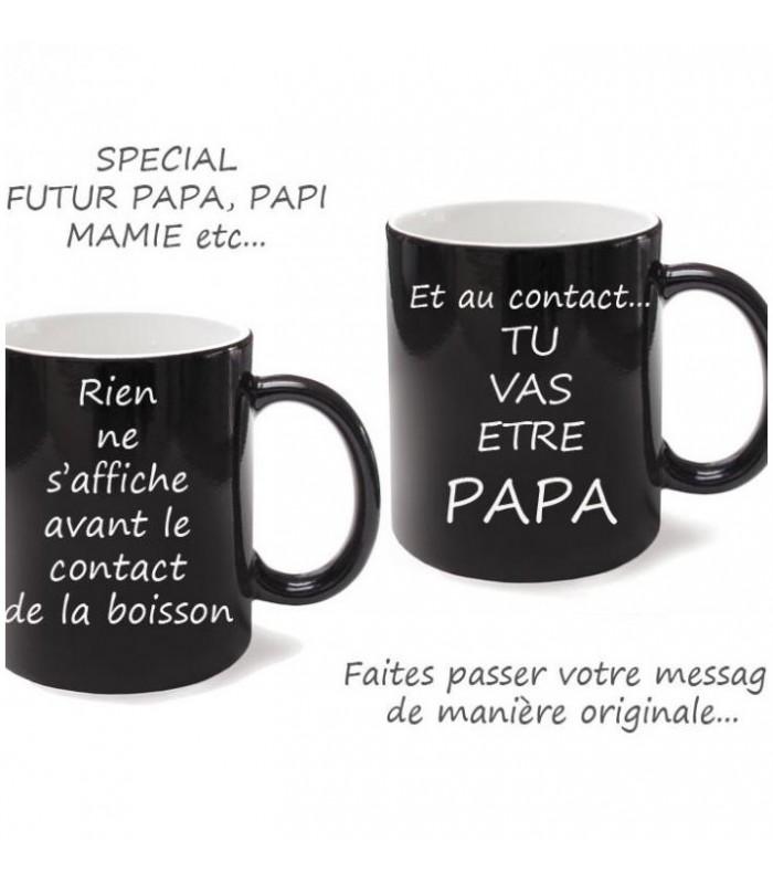 Idée cadeau originale pour ce mug en céramique blanc personnalisé avec photo magique