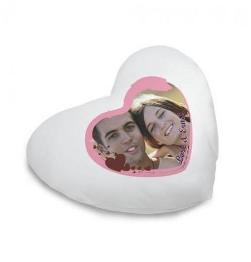 coussin coeur blanc personnalisé