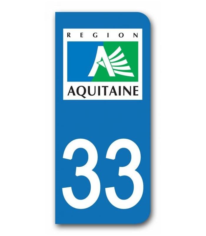 sticker pour plaque immatriculation region aquitaine sticker personnalise plaque voiture. Black Bedroom Furniture Sets. Home Design Ideas