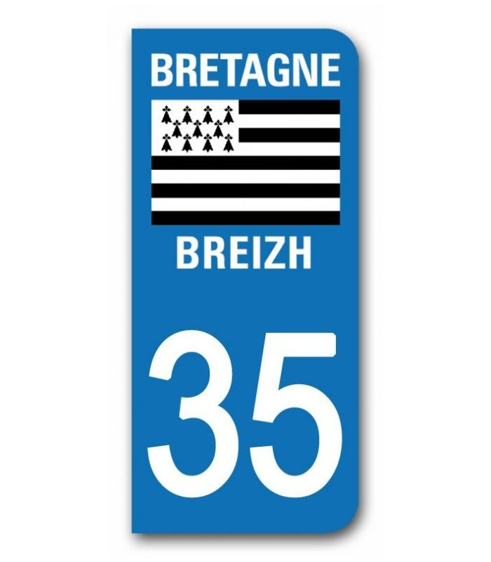 sticker pour plaque immatriculation region bretagne breizh sticker personnalise plaque voiture. Black Bedroom Furniture Sets. Home Design Ideas