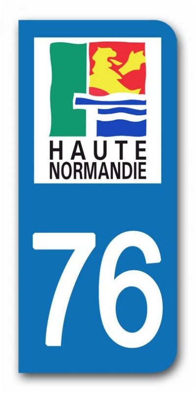 sticker pour plaque immatriculation region haute normandie sticker personnalise plaque voiture. Black Bedroom Furniture Sets. Home Design Ideas