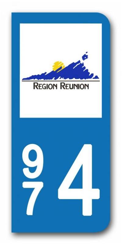 sticker pour plaque immatriculation region reunion sticker personnalise plaque voiture. Black Bedroom Furniture Sets. Home Design Ideas