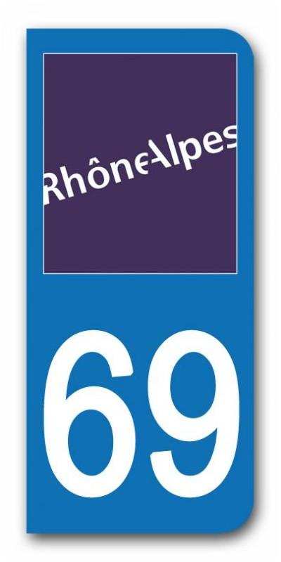 sticker pour plaque immatriculation region rhone alpes sticker personnalise plaque voiture. Black Bedroom Furniture Sets. Home Design Ideas