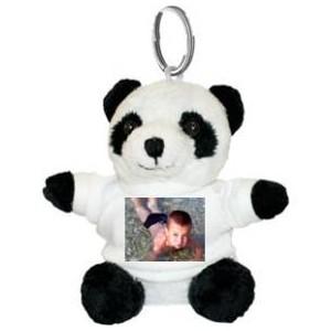 porte cl peluche panda personnalis avec une photo cadeau personnalis. Black Bedroom Furniture Sets. Home Design Ideas