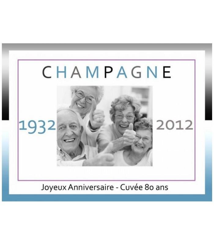 etiquette champagne originale