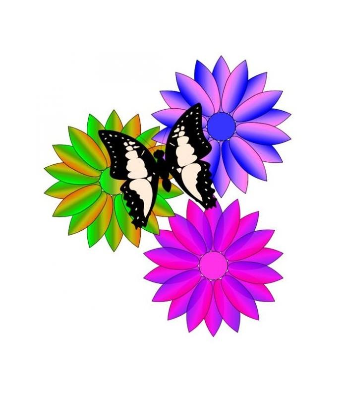 stickers avec plusieurs fleurs