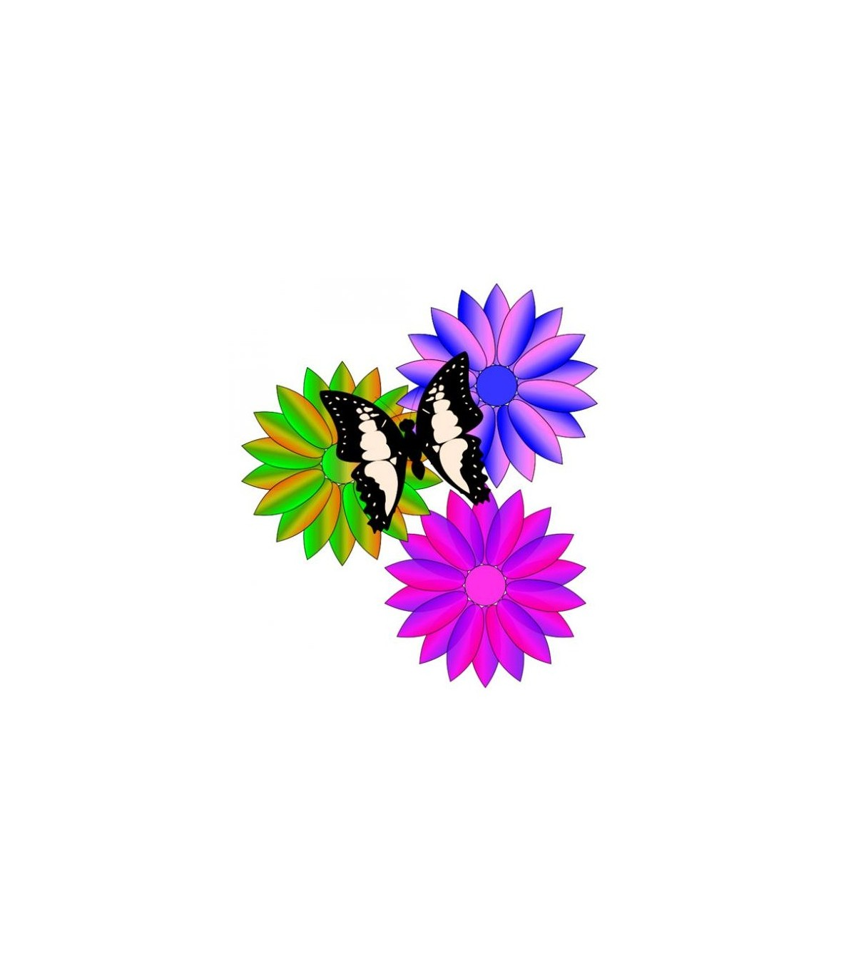 Sticker plusieurs fleurs