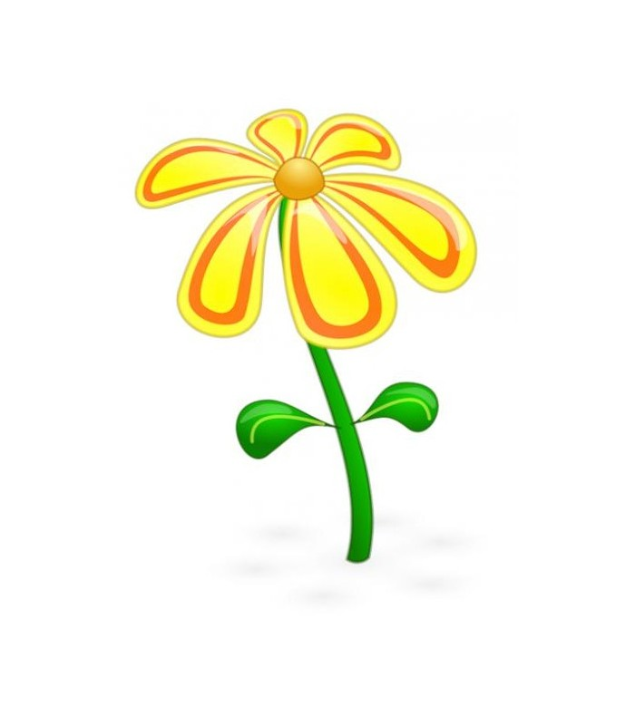 sticker fleur pétales jaunes