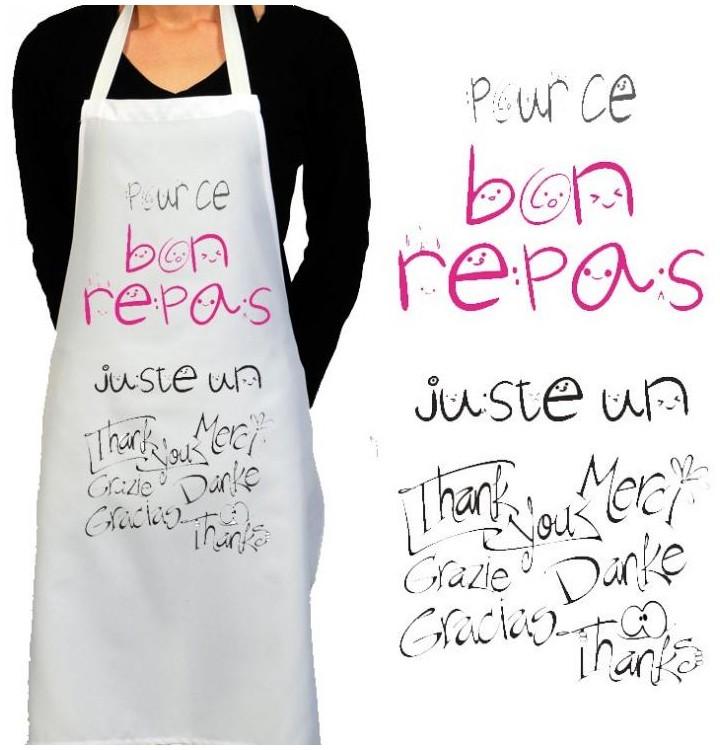 Id e de cadeau pour femme un tablier de cuisine femme for Tabliers de cuisine originaux la rochelle