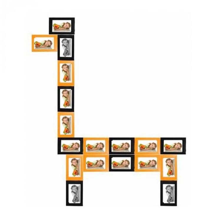 cadre photo original pas cher pour former une girafe ou un lama cadeau photo. Black Bedroom Furniture Sets. Home Design Ideas