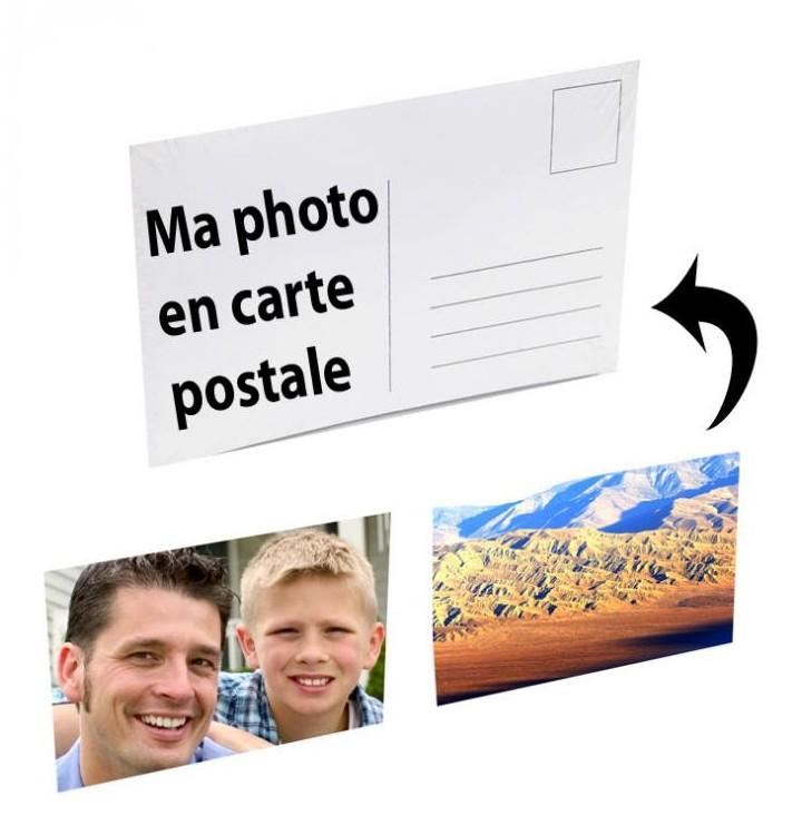 Carte postale personnalisée à partir de votre photo, envoyez une e carte postale