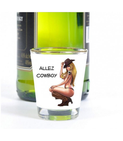 Photo sur un shooter, verre à liqueur