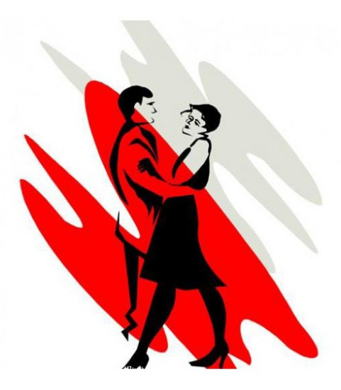 sticker couple dansant