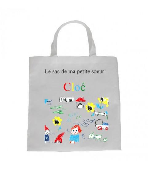 sac original avec dessin naissance enfant