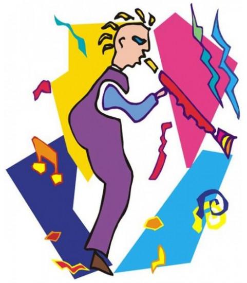 sticker musiciens colorés