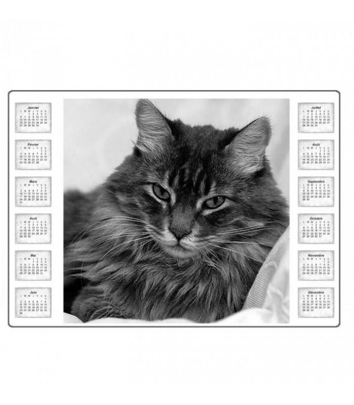 Tapis de souris personnalisé avec calendrier