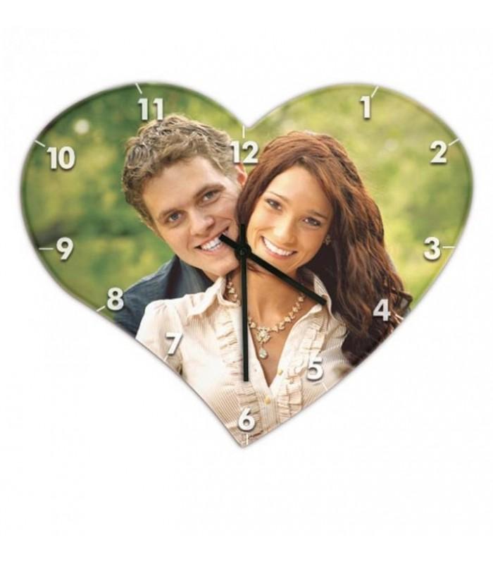 Horloge en mdf personnalisée photo.
