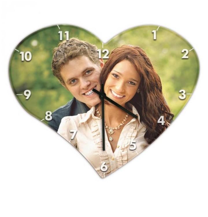 Horloge MDF forme coeur