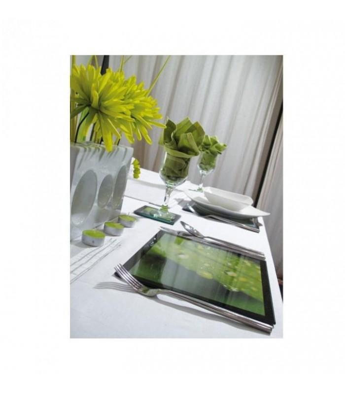 set de table photo en verre