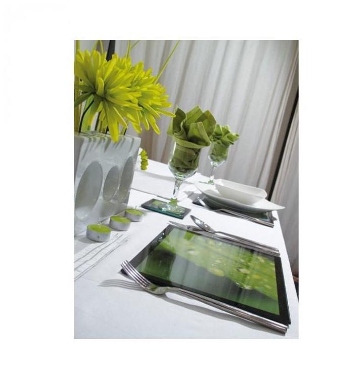 set de table verre avec photo