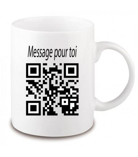 flash code, code qr imprimé sur un mug