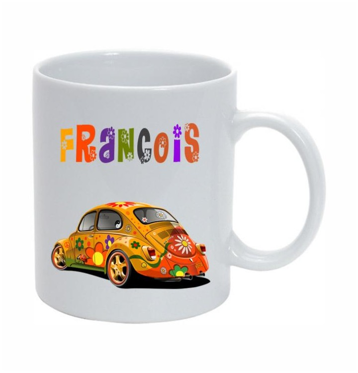 mug coccinelle pour fans de voiture un mug original avec la voiture allemande. Black Bedroom Furniture Sets. Home Design Ideas