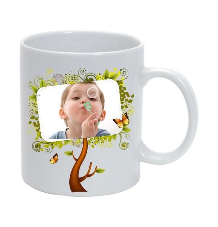 joli mug avec un arbre d co personnalis avec photo mug photo. Black Bedroom Furniture Sets. Home Design Ideas