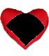 coussin coeur photo personnalisé rouge