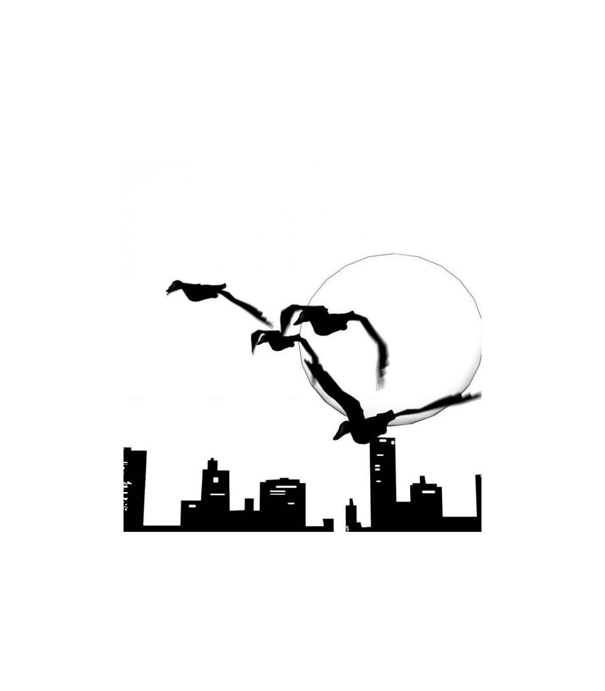 Sticker paysage oiseaux