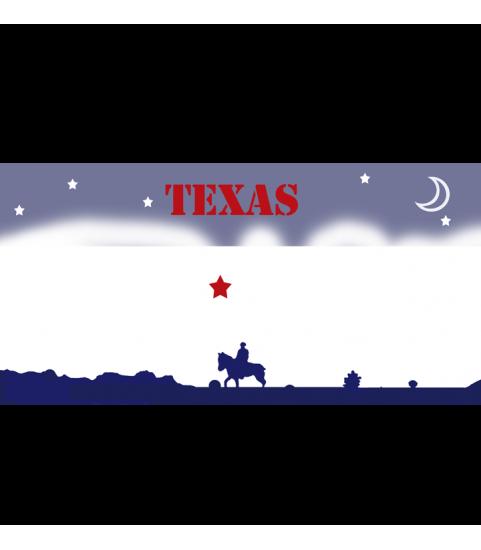 plaque façon us personnalisée texas