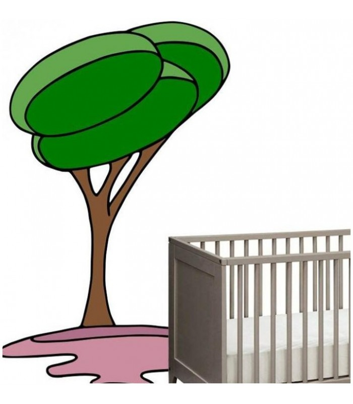 sticker arbre vert