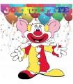 Sticker clown