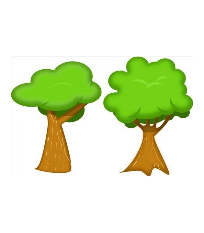 Sticker 2 arbres ete