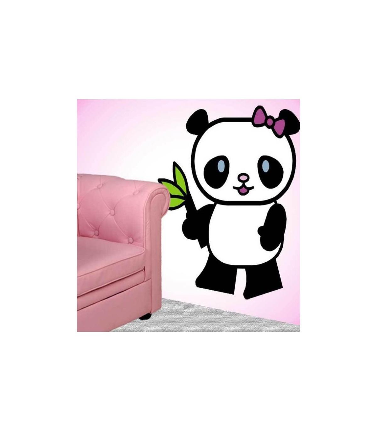 Sticker panda fille