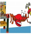 Sticker crabe bricoleur