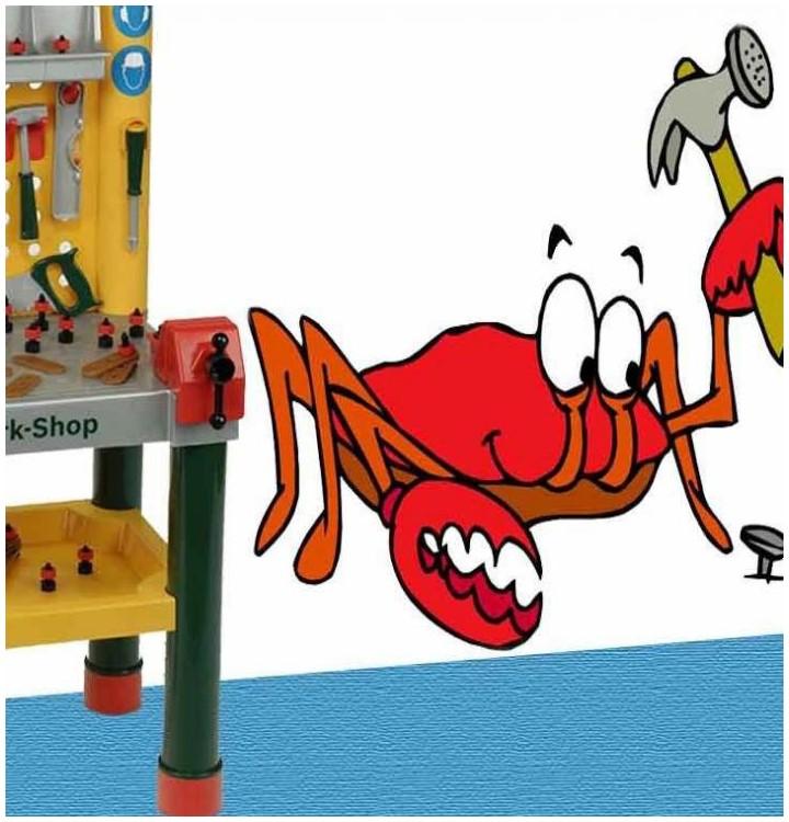 Sticker crabe bricoleur