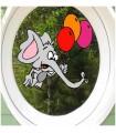 sticker éléphant léger