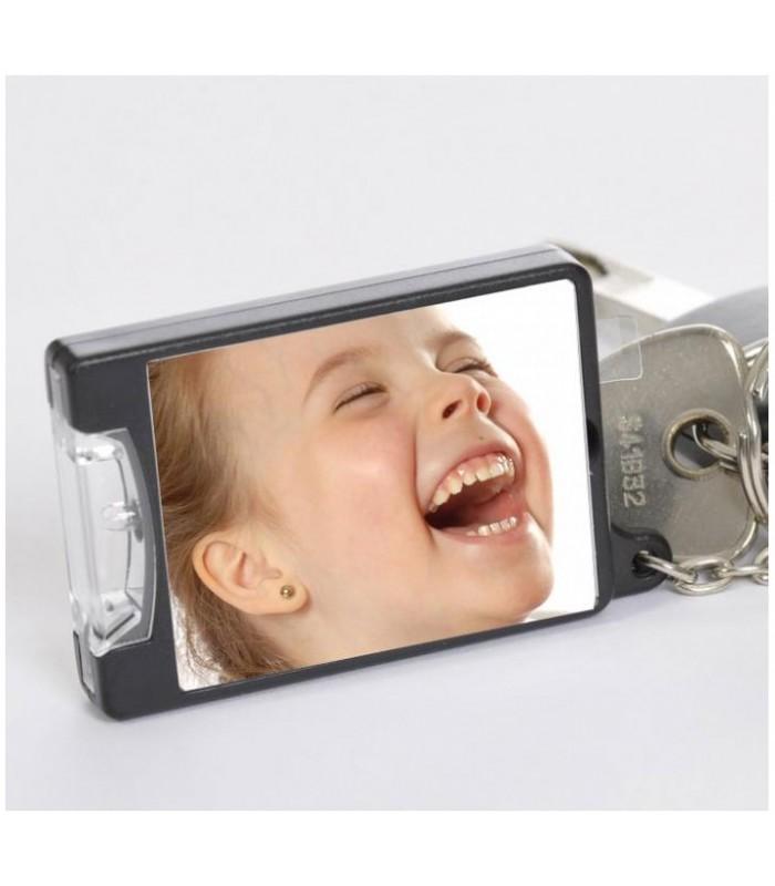 Porte clé lumineux photo, cadeau personnalisé photo