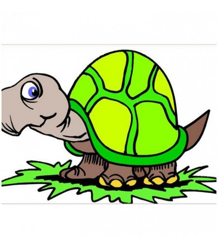 Sticker tortue sympa