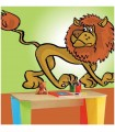 Sticker lion maigre