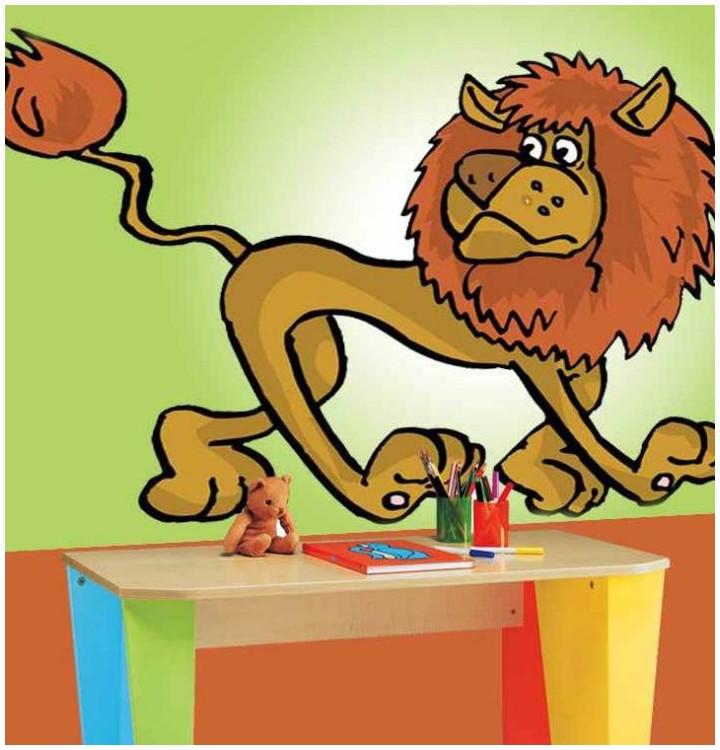Sticker lion maigre