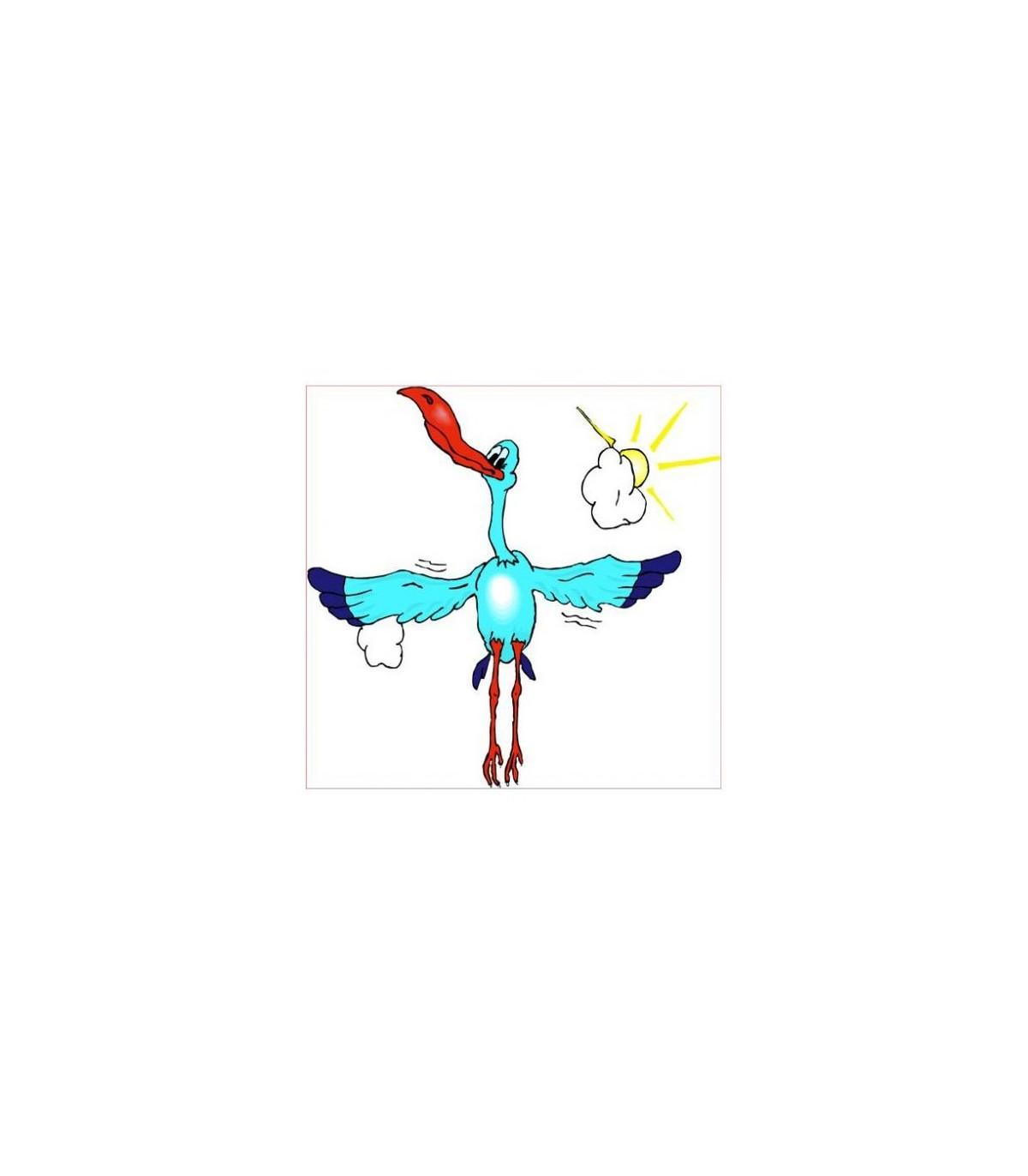 Sticker mural  le pelican