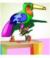 Sticker oiseau arc en ciel