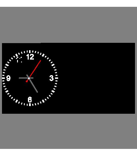 Horloge photo rectangulaire