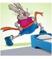 sticker lapin qui coure