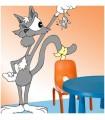 sticker chat attrape souris