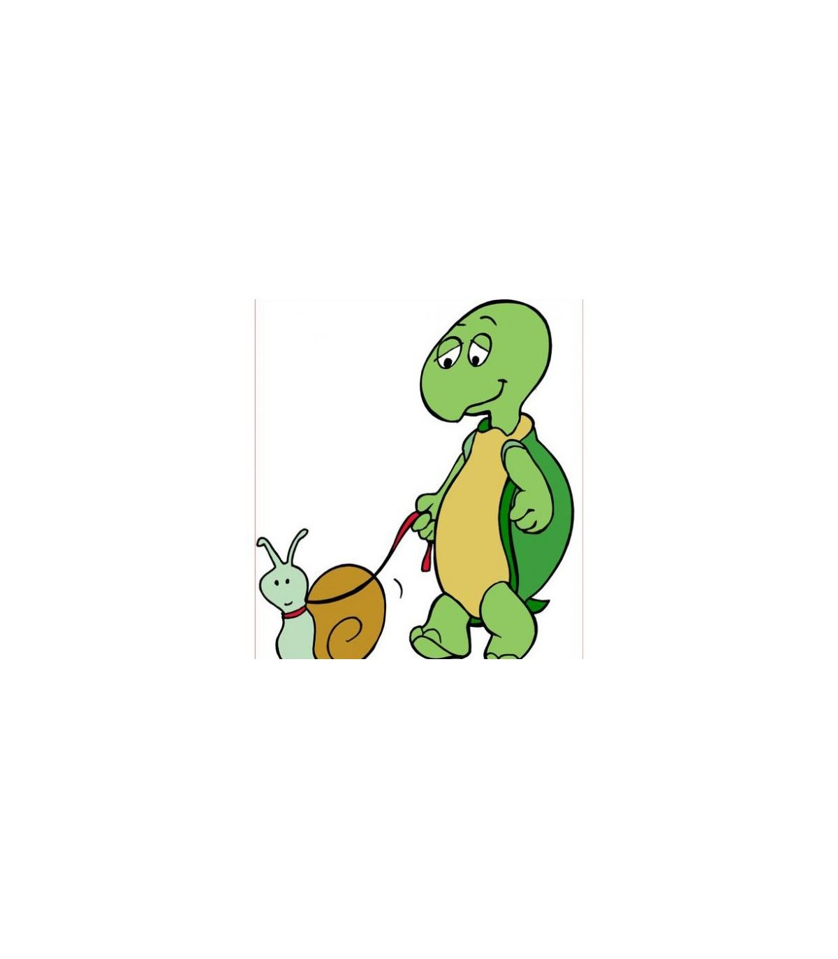 Sticker tortue et escargot
