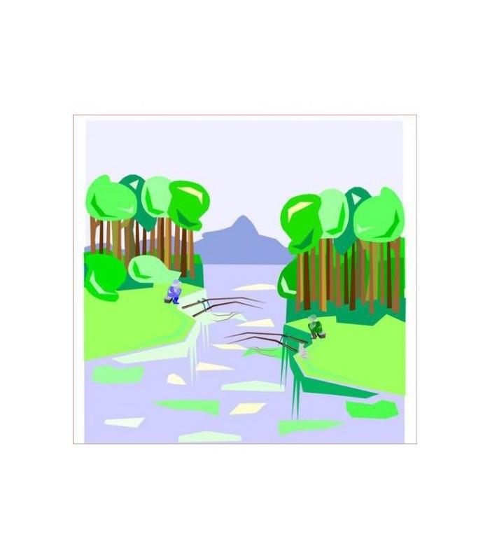 Sticker paysage chambre enfant