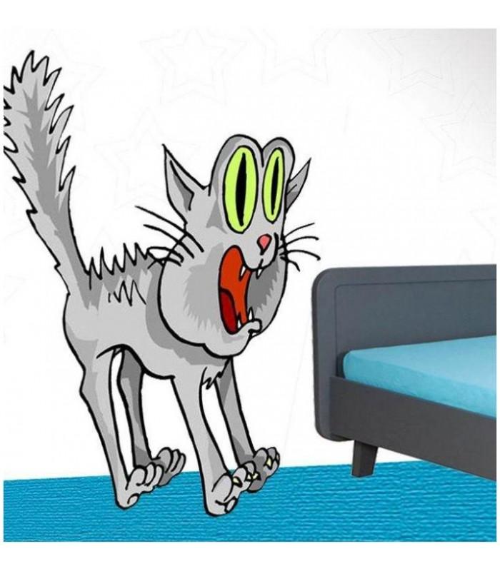 Sticker chat herisse