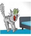 sticker chat hérissé